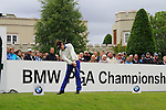 Danny Lee (NZL) tees off on the 1st tee to start his round on Day 2 of the BMW PGA Championship Championship at, Wentworth Club, Surrey, England, 27th May 2011. (Photo Eoin Clarke/Golffile 2011)