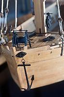Europe/France/Aquitaine/24/Dordogne/Bergerac:  Maison du vin et de la batellerie ou Musée ethnographique du vin, de la tonnellerie et de la batellerie,  Maquette Gabare