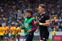 Brothers Beauden (left) and Jordie Barrett during the Bledisloe Cup rugby union match between the New Zealand All Blacks and Australia Wallabies at Sky Stadium in Wellington, New Zealand on Sunday, 11 October 2020. Photo: Dave Lintott / lintottphoto.co.nz