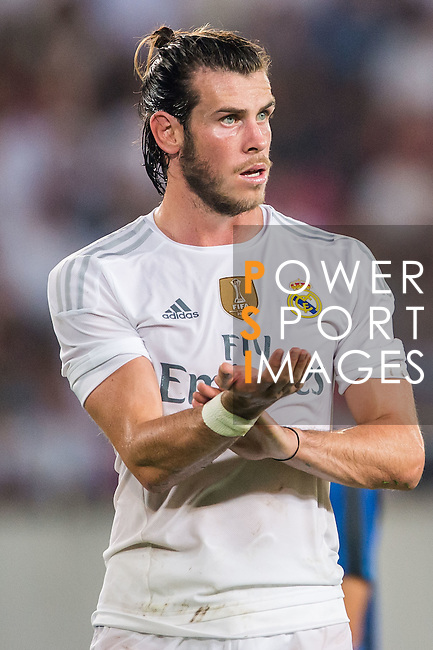Gareth Bale of Real Madrid CF reacts during the FC Internazionale Milano vs Real Madrid  as part of the International Champions Cup 2015 at the Tianhe Sports Centre on 27 July 2015 in Guangzhou, China. Photo by Aitor Alcalde / Power Sport Images