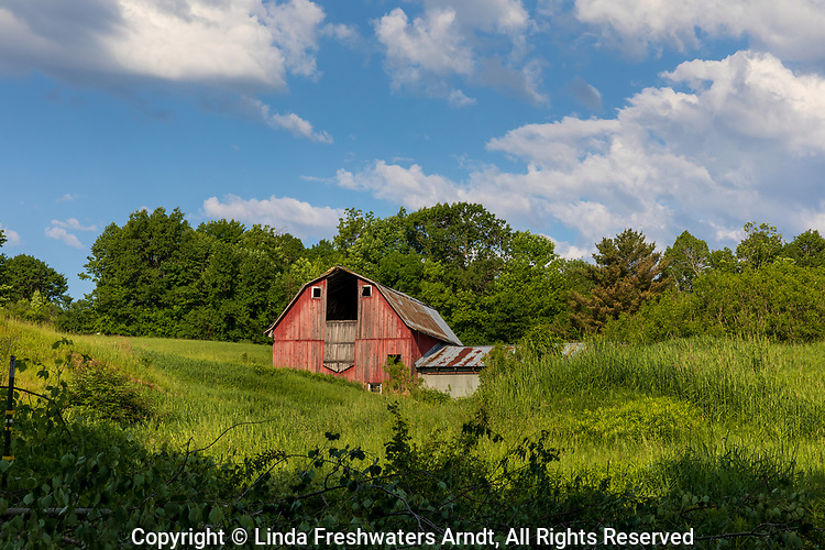 An old red barn in northern Wisconsin.