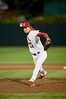 Springfield Cardinals relief pitcher Tyler Bray (44) delivers a pitch during a game against the Corpus Christi Hooks on May 31, 2017 at Hammons Field in Springfield, Missouri.  Springfield defeated Corpus Christi 5-4.  (Mike Janes/Four Seam Images)