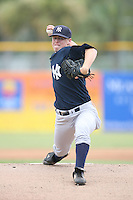 August 13, 2008: Michael O'Brian (39) of the GCL Yankees.  Photo by: Chris Proctor/Four Seam Images
