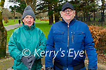 Enjoying a stroll in Tralee town park on Tuesday, l to r: Paddy Moriarty and Paddy Morris
