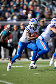 Buffalo Bills Brandon Tate (15) returns a punt during an NFL Wild-Card football game against the Jacksonville Jaguars, Sunday, January 7, 2018, in Jacksonville, Fla.  (Mike Janes Photography)