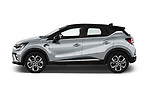 Car Driver side profile view of a 2021 Renault Captur Intense 5 Door SUV Side View
