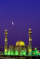 Al Fateh Mosque, Bahrain.  Imposing modern mosque near the city of Manama, the capital of Bahrain.