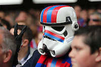 Pictured: A Crystal Palace supporter in Star Wars Star trooper outfit<br />