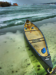canoe on spring ice, Yellowknife