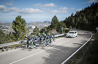 Team Orica-Scott preparing for the 2017 season on the Coll de Rates (alt 626m/Alicante/Spain) in january
