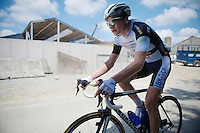 CX sensation David Van Der Poel (NLD/BKCP-Powerplus) in this roadrace<br /> <br /> 2014 Belgium Tour<br /> stage 4: Lacs de l'Eau d'Heure - Lacs de l'Eau d'Heure (178km)