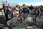 Local heroes pair up with students at the 11th annual Holiday with a Hero at Walmart in Carson City, Nev., on Wednesday, Dec. 16, 2015. <br /> Photo by Cathleen Allison