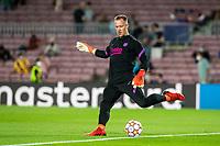 14th September 2021: Nou Camp, Barcelona, Spain: ECL Champions League football, FC Barcelona versus Bayern Munich: Goalie Ter Stegen FCBarcelona player during the warm up