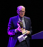 James Lapine  on stage at the Stage Directors and Choreographers Foundation event honoring Julie Taymor with the Mr. Abbott Award at the Bohemian National Hall on April 2, 2018 in New York City.