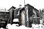 A old shack on Jolliffe Island Yellowknife