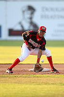 Batavia Muckdogs second baseman Yunier Castillo #7 during a game against the Auburn Doubledays at Dwyer Stadium on July 17, 2011 in Batavia, New York.  Batavia defeated Auburn 8-3.  (Mike Janes/Four Seam Images)