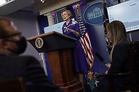 Ambassador Deborah L. Birx, M.D., White House Coronavirus Response Coordinator, speaks during a news conference in the Brady Press Briefing Room of the White House in Washington, D.C., U.S., on Friday, May 22, 2020. Trump did not wear a face mask during most of his tour of Ford Motor Co.'s ventilator facility Thursday, defying the automaker's policies and seeking to portray an image of normalcy even as American coronavirus deaths approach 100,000. <br /> Credit: Andrew Harrer / Pool via CNP/AdMedia