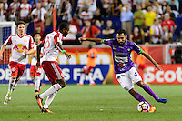 Harrison, NJ - Wednesday Aug. 03, 2016: Chris Duvall, Hugo Acosta Caceres during a CONCACAF Champions League match between the New York Red Bulls and Antigua at Red Bull Arena.