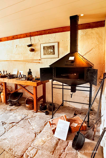 William Herschel's workshop at the Herschel Museum of Astronomy in Bath, UK. The Museum is housed in the building in which William and Caroline Herschel lived and worked from 1772 until 1782.