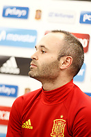 Spain's Andres Iniesta in press conference before training session. March 23,2017.(ALTERPHOTOS/Acero)