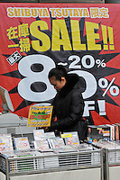 A record and CD shops offers 80% reduction on many items in sales in Tokyo as shops are desperate for consumers to spend more to stimulate the flagging economy. Japan has been hit extremely hard by the economic crisis and hundreds of thousands have lost their jobs in the last two months...