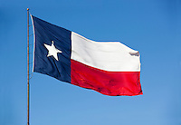 """The Texas flag is known as the """"Lone Star Flag"""" (giving rise to the state's nickname """"The Lone Star State""""). This flag was introduced to the Congress of the Republic of Texas on December 28, 1838, by Senator William H. Wharton.[2] It was adopted on January 25, 1839 as the final national flag of the Republic of Texas."""