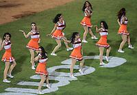 porristas , durante el partido Inaugural en estadio Sonora con el encuentro de beisbol entre Naranjeros de Hermosillo vs Yaquis de ciudad Obregon. Temporada Potosinos de la Liga Mexicana del Pacifico 2016-2017 <br /> © Foto: LuisGutierrez/NORTEPHOTO.COM