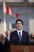 Justin Trudeau,  Prime Minister-designate and members of the 29th Canadian ministry on the grounds of Rideau Hall in Ottawa, Ontario, on Wednesday, November 4, 2015.<br /> <br /> PHOTO : Pierre Roussel<br /> - Agence Quebec Presse