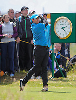 180719 | The 148th Open - Day 1<br /> <br /> Rory McIlroy of Northern Ireland on the 15th tee during the 148th Open Championship at Royal Portrush Golf Club, County Antrim, Northern Ireland. Photo by John Dickson - DICKSONDIGITAL