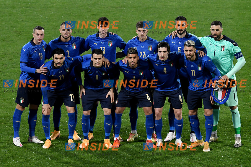 Italy team line up during the friendly football match between Italy and Estonia at Artemio Franchi Stadium in Firenze (Italy), November, 11th 2020. Photo Andrea Staccioli/ Insidefoto