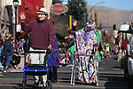 The Home Instead Senior Care entry participates in the annual Nevada Day parade in Carson City, Nev. on Saturday, Oct. 29, 2016. <br />Photo by Cathleen Allison