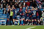 SD Huesca's players during La Liga match between Real Madrid and SD Huesca at Santiago Bernabeu Stadium in Madrid, Spain.March 31, 2019. (ALTERPHOTOS/A. Perez Meca)