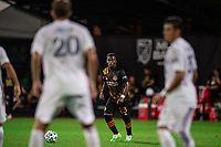 LAKE BUENA VISTA, FL - JULY 23: Darwin Quintero #23 of the Houston Dynamo gets ready for the free kick during a game between Los Angeles Galaxy and Houston Dynamo at ESPN Wide World of Sports on July 23, 2020 in Lake Buena Vista, Florida.