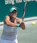 Lucie Hradecka (CZE) defeats Caroline Garcia (FRA) 5-7, 7-5, 6-4 at the Family Circle Cup in Charleston, South Carolina on April 9, 2015.