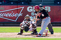 Mitch Matecki (8) of the Southern Illinois University- Edwardsville Cougars makes contact on a pitch during a game against the Missouri State Bears at  Hammons Field on March 10, 2012 in Springfield, Missouri. (David Welker / Four Seam Images)