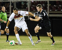 The Winthrop University Eagles beat the UNC Asheville Bulldogs 4-0 to clinch a spot in the Big South Championship tournament.  Achille Obougou (7), Cole Schwietering (20)