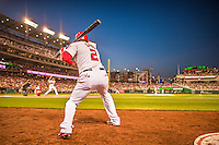 22 May 2015: Washington Nationals outfielder Denard Span on deck during game action against the Philadelphia Phillies at Nationals Park in Washington, DC. The Nationals defeated the Phillies 2-1 in the first game of their 3-game weekend series. Mandatory Credit: Ed Wolfstein Photo *** RAW (NEF) Image File Available ***