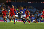 Glasgow 2014 Commonwealth Games<br /> Alatasi Tupou breaks through the Welsh defence.<br /> Wales v Samoa<br /> Ibrox Stadium<br /> <br /> 26.07.14<br /> ©Steve Pope-SPORTINGWALES