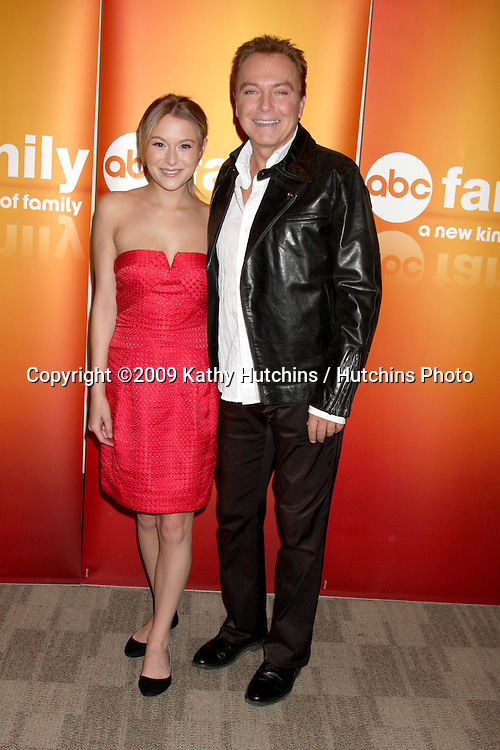 Alexa Vega & David Cassidy at the Disney & ABC Television Group Summer Press Junket at the ABC offices in Burbank, CA  on May 29, 2009 .©2009 Kathy Hutchins / Hutchins Photo..