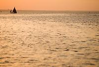 Europe/France/Aquitaine/33/Gironde/Bassin d'Arcachon/Ares: A l'aube, voilier vieux gréements sur le bassin