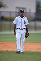 Detroit Tigers Pedro Martinez Jr during a Minor League Extended Spring Training game against the Toronto Blue Jays on May 23, 2019 at Tigertown in Lakeland, Florida.  (Mike Janes/Four Seam Images)