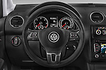 Car pictures of steering wheel view of a 2013 Volkswagen Caddy Cross 5 Door Mini MPV 2WD Steering Wheel