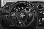 Car pictures of steering wheel view of a 2013 Volkswagen Caddy Cross 5 Door Mini MPV 2WD Steering Wheel