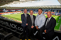 Trevor Birch, Chris (viola) and Alan Curtis during the Sky Bet Championship match between Swansea City and Nottingham Forest at the Liberty Stadium in Swansea, Wales, UK. Saturday 14 September 2019