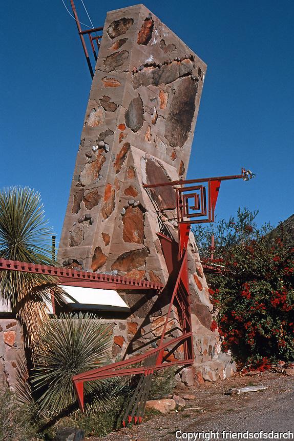 F.L. Wright: Taliesen West. Entrance.  Photo '77.