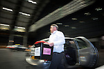© Joel Goodman - 07973 332324 . 23/06/2016 . Manchester , UK . The first ballot boxes arrive at the count in the EU referendum at Manchester Central convention centre . Photo credit : Joel Goodman
