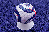General view of a Premier League match ball during the Premier League behind closed doors match between Leicester City and Sheffield United at the King Power Stadium, Leicester, England on 14 March 2021. Photo by David Horn / PRiME Media Images.