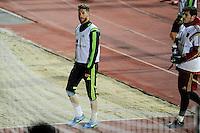 Spanish National Team's  training at Ciudad del Futbol stadium in Las Rozas, Madrid, Spain. In the pic: Sergio Ramos. March 25, 2015. (ALTERPHOTOS/Luis Fernandez) /NORTEphoto.com