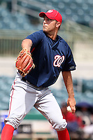Washington Nationals pitcher Matt Grace #40 during an Instructional League game against the Houston Astros at Osceola County Stadium on September 26, 2011 in Kissimmee, Florida.  (Mike Janes/Four Seam Images)