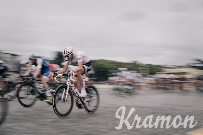 Polka Dot Jersey / KOM leader Warren Barguil (FRA/Sunweb) speeding along on the Champs-Elysées<br /> <br /> 104th Tour de France 2017<br /> Stage 21 - Montgeron › Paris (105km)